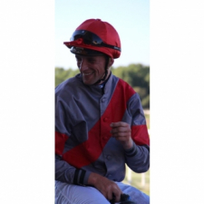 A happy jockey...