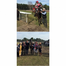 Winning first time out for…